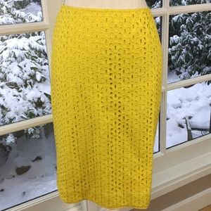 Beautiful Cynthia Steffe yellow eyelet skirt